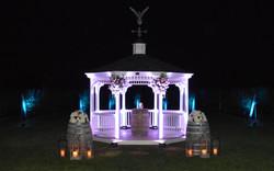 East End Entertainment DJ Hamptons North Fork Wedding Vineyard uplighting ceremony gazebo