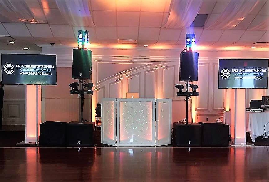 East End Entertainment DJ Hamptons North Fork Flat Screens lighting Flowerfield