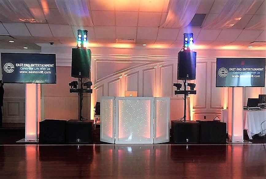 East End Entertainment DJ Hamptons North Fork Flat Screens lighting Flowerfield