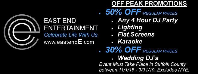 East End Entertainment off peak promo 20