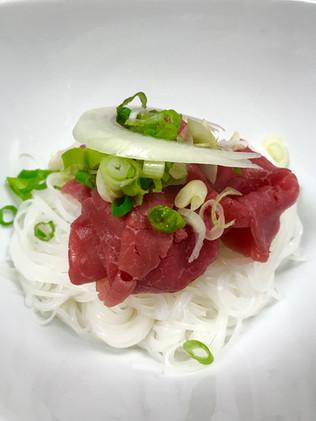 Rare beef pho