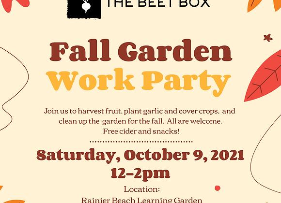 Fall Garden Work Party