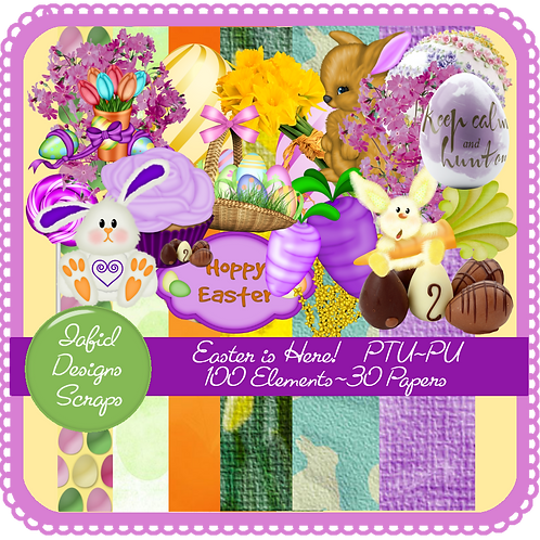 Easter is Here Tagger Kit PU