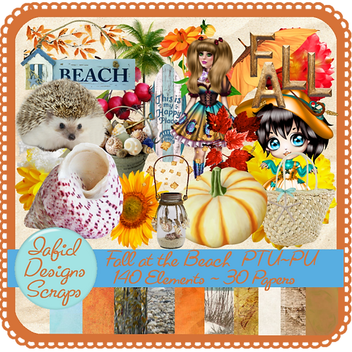 Fall at the Beach Tagger Kit PU