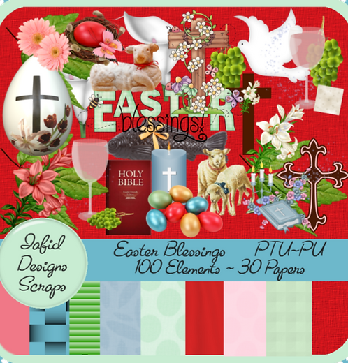 Easter Blessings Tagger Kit PU
