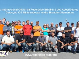 1ºSeminário Internacional oficial da FBAA  Detecção K-9, Andre Brendler(Alemanha).