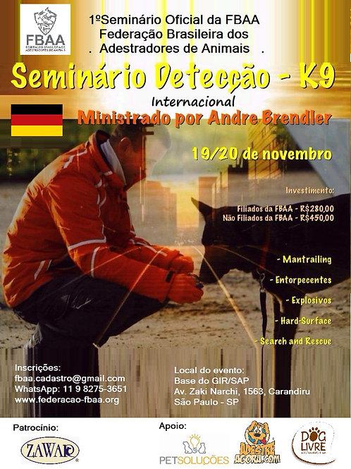 Seminário de detecção K-9 Andre Brendler