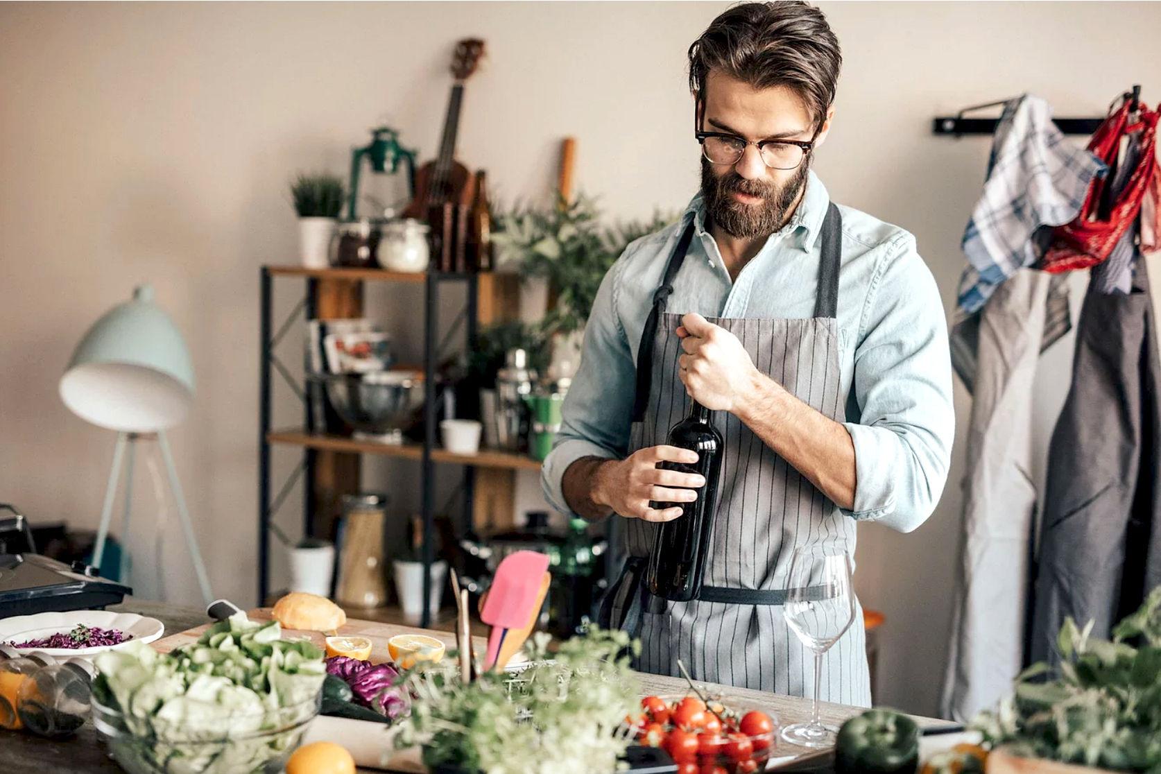 L\'uomo in cucina che sapore ha?