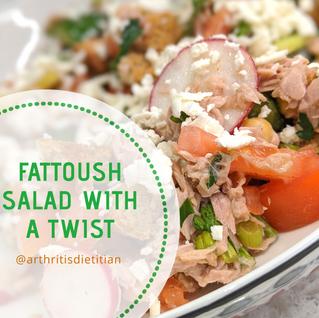 Fattoush Salad with a Digestive Friendly Twist