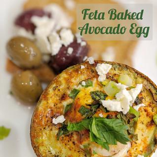 Easy Feta Baked Avocado Egg Inspired by the MedDiet Challenge