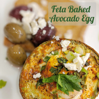Easy Feta Baked Avocado Egg Inspired by the MedDiet Challenge