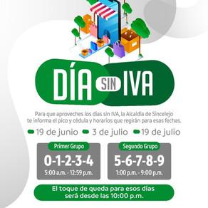MAÑANA SERÁ EL PRIMER DÍA SIN IVA EN COLOMBIA