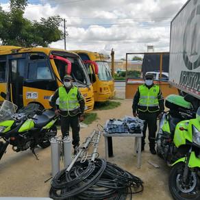 POLICÍA DE CARRETERAS INCAUTA ELEMENTOS DE COMUNICACIÓN