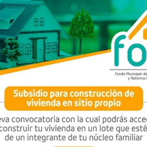 AMPLÍAN PLAZO PARA SUBSIDIO DE CONSTRUCCIÓN DE VIVIENDA EN SITIO PROPIO