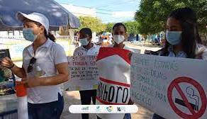 PROFESIONALES DE LA SALUD EN SAN ONOFRE PROTESTARON POR FALTAS DE MEDIDAS DE BIOSEGURIDAD