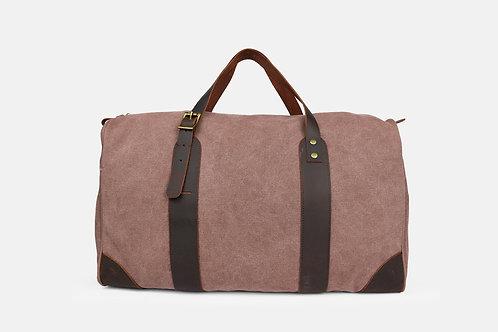 CRAZY LOU, Vince bagage 48H, toile et cuir, taupe