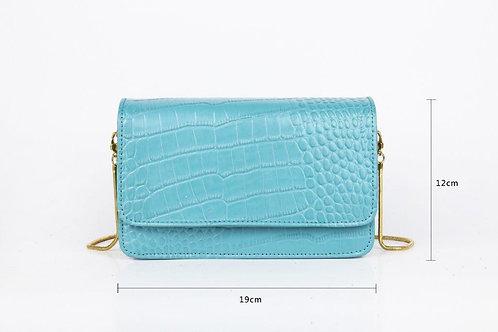 CRAZY Lou, mini-sac Bailey, 🐊 bleu