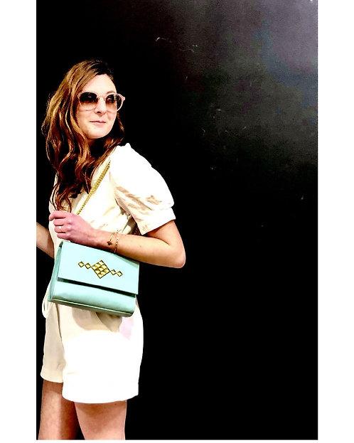 SABRINA Paris, sac Jane, vert d'eau