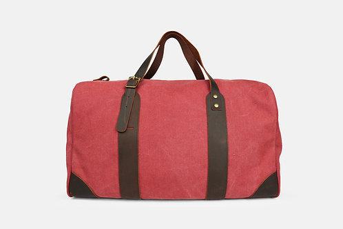CRAZY LOU,  Vince bagage 48H, toile et cuir, brique