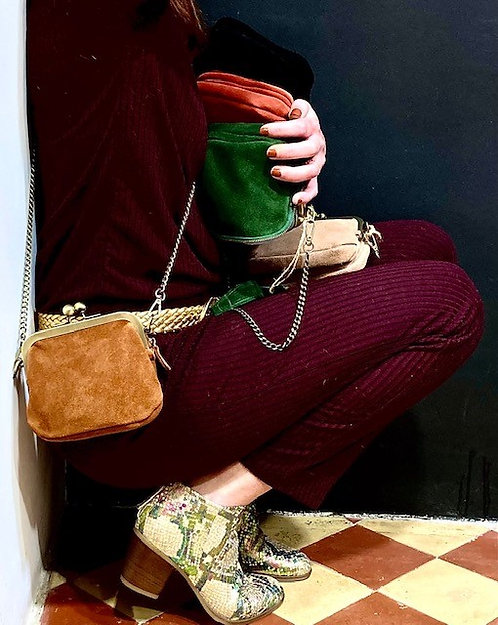 CRAZY LOU, Babe mini sac bibi, camel