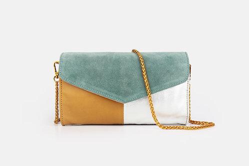 CRAZY LOU, Mely sac-pochette cuir, jaune