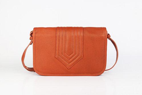 CRAZY LOU, Isadora sac trotteur vintage-cut, cuir,brique