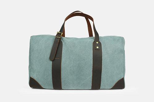 CRAZY LOU, Vince bagage 48H, toile et cuir, bleu