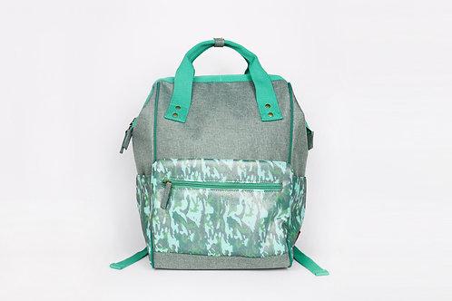 CRAZY LOU, Gaia sac à dos ouverture grand angle, camo vert