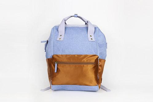 CRAZY LOU, Gaia sac à dos ouverture grand angle, bleu
