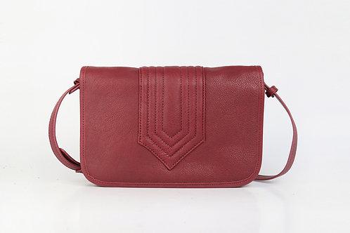CRAZY LOU, Isadora sac trotteur vintage-cut, cuir, bordeaux