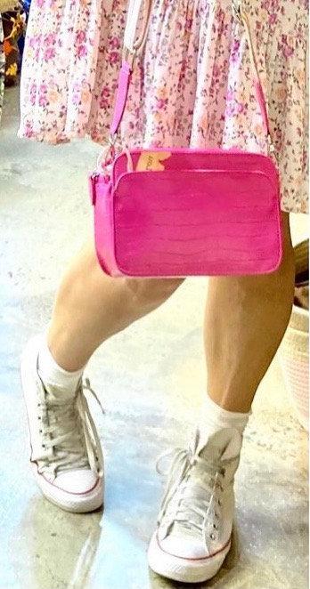 CRAZY Lou , sac Lécita, néon rose