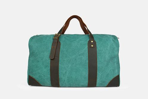 CRAZY LOU, Vince bagage 48H, toile et cuir, vert