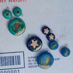 Painted charms