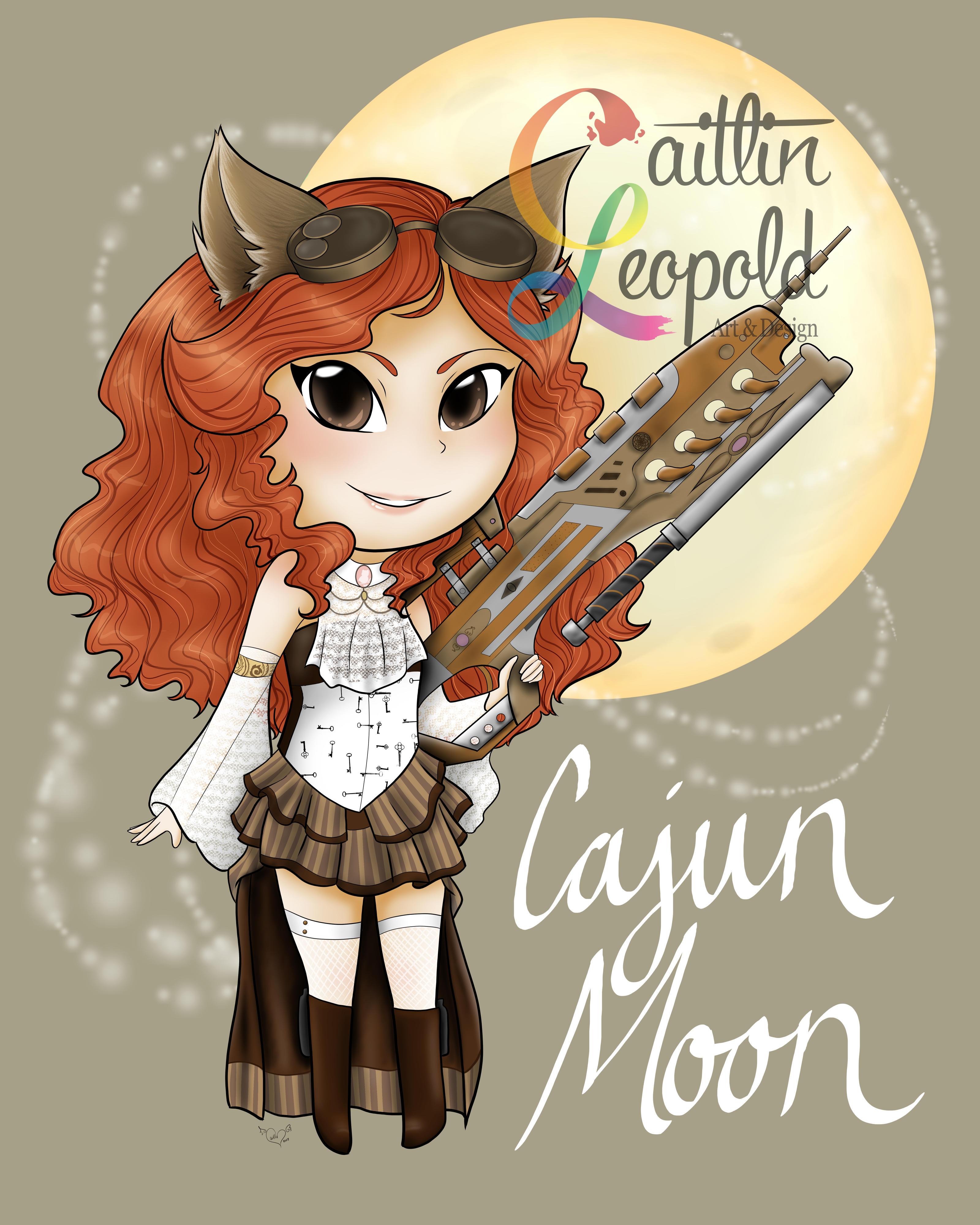 Cajun Moon Mascot