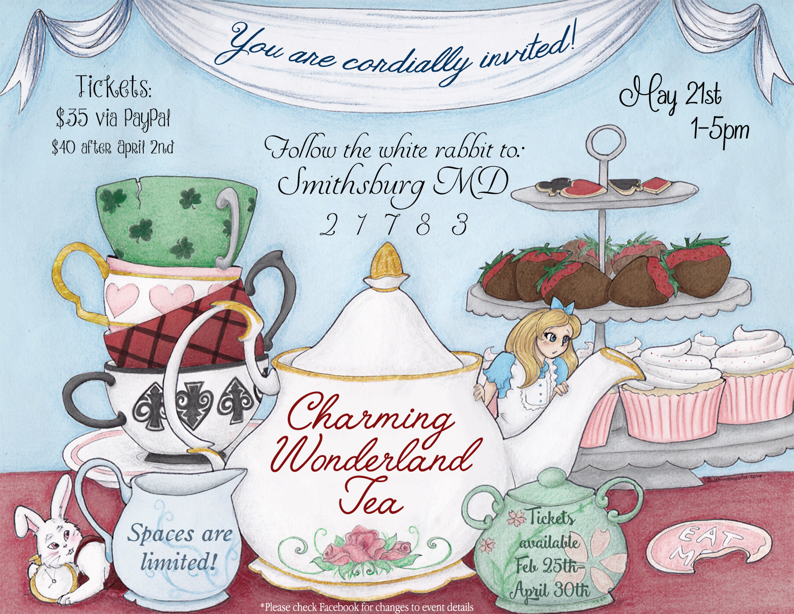 Charming Wonderland Tea Flyer