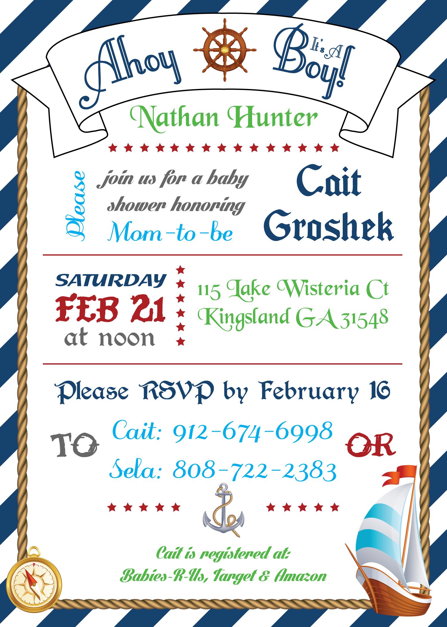 Babyshower invite design
