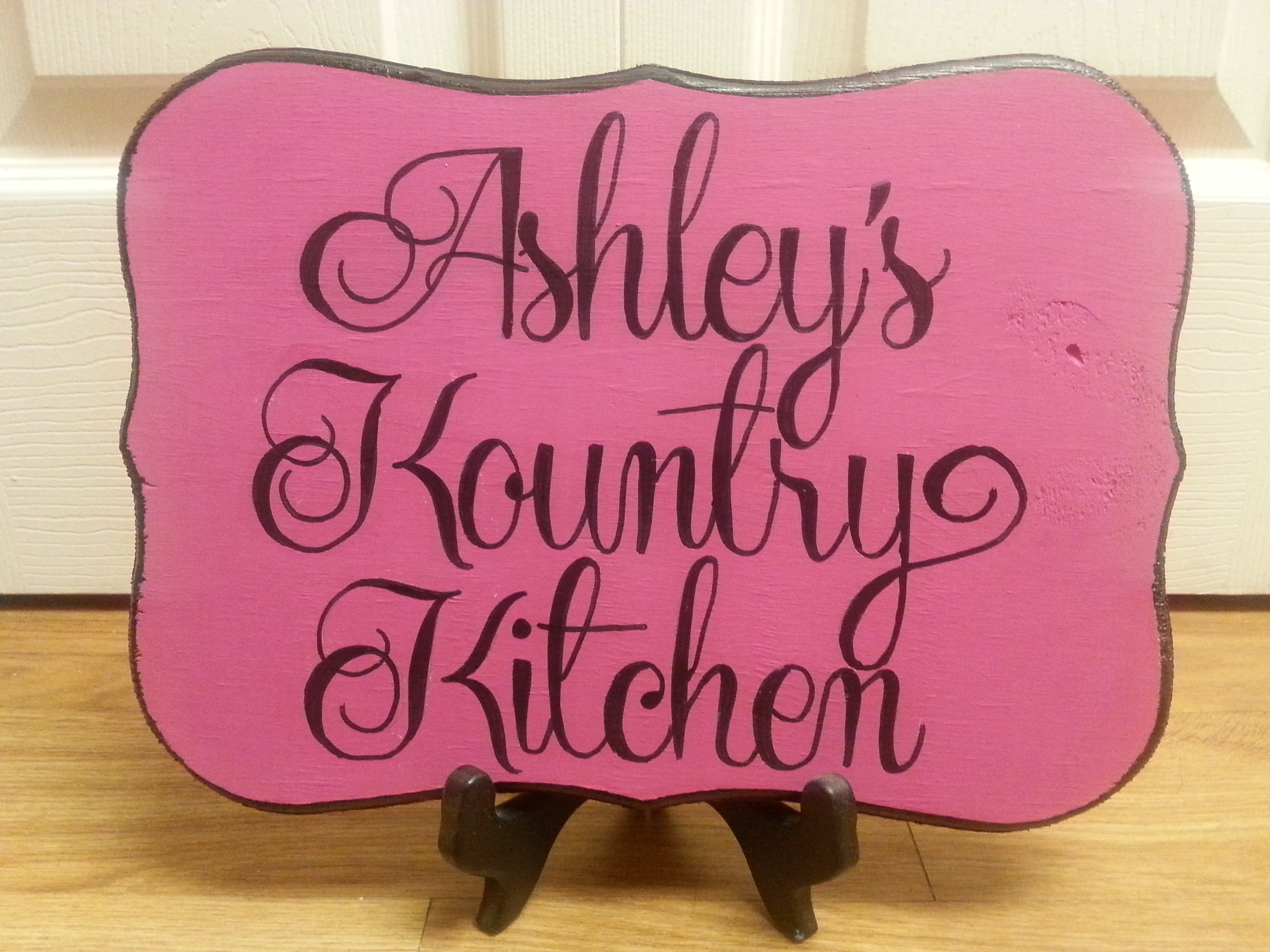 Ashley's Kountry Kitchen plaqu