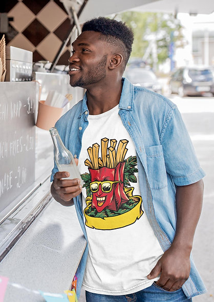 Funny Fast Food Summer Happy Graphic Short-Sleeve Unisex T-Shirt