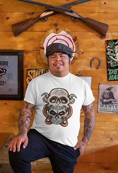 Two-sugar Skull Muertos Short-Sleeve Unisex T-Shirt