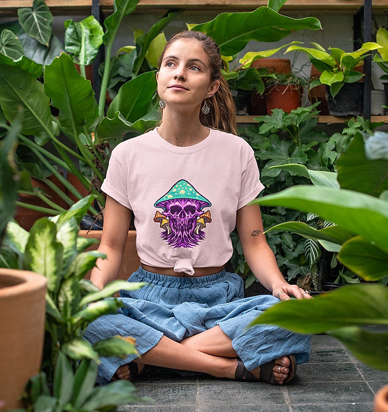 Zombie Scary Magic Mushrooms Short-Sleeve Unisex T-Shirt