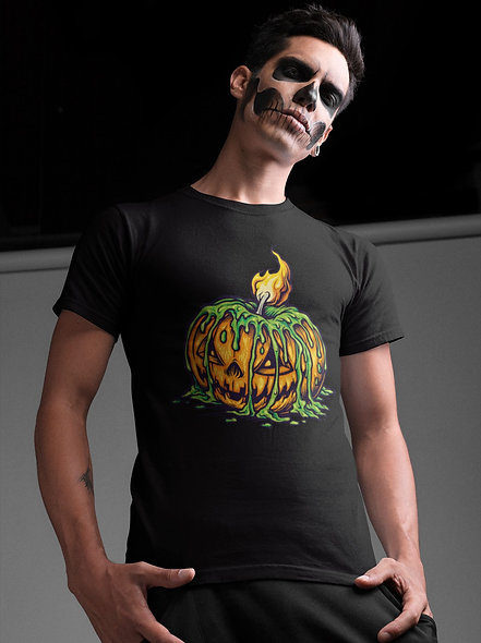 Halloween CandleLight Scary Jack O Lantern Short-Sleeve Unisex T-Shirt
