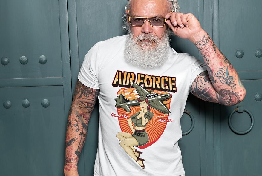 Air Force Pin Up Short-Sleeve Unisex T-Shirt