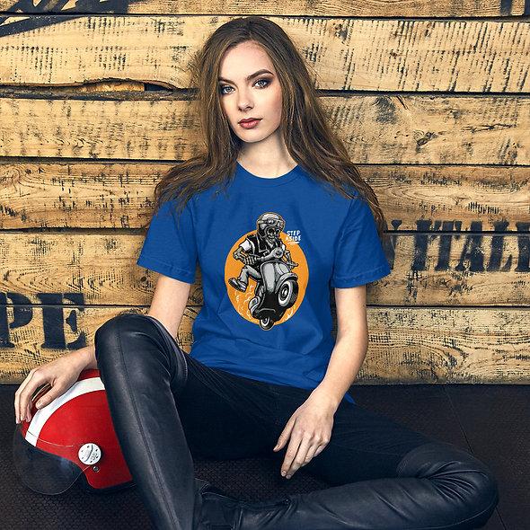 Skull Scooter Short-Sleeve Unisex Sexy T-Shirt