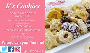 Kay's Cookies Business Card