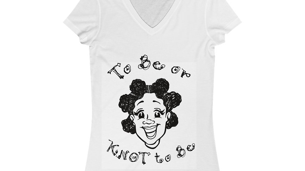 To Be Or Knot To Be Women's Jersey Short Sleeve V-Neck Tee