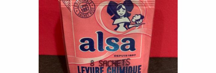 Levure chimique Alsa / 8 sachets
