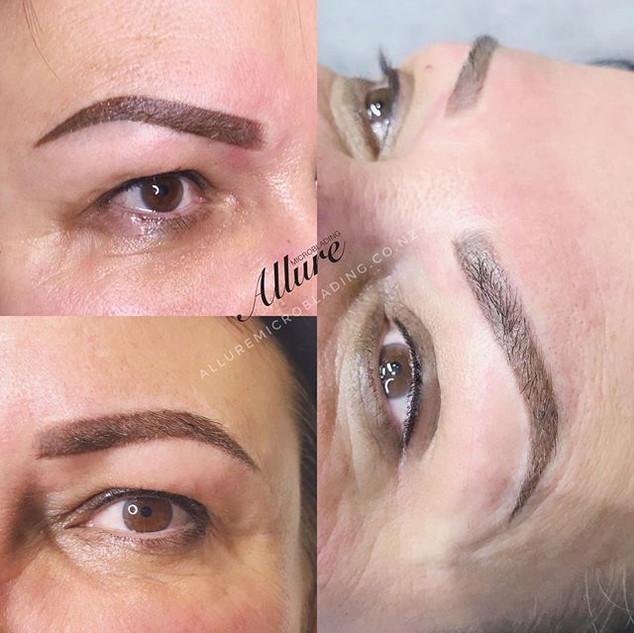 Ombre powder brows + lash enhancement, n