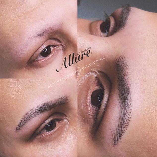 Microblading eyebrow for men._Alopecia c