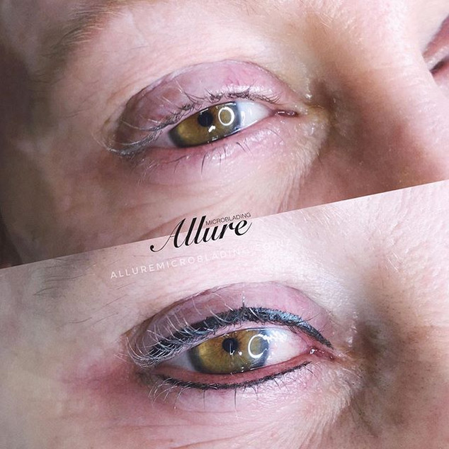 Eyeliner tattoo 👁👁. Upper and lower. W
