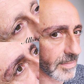 Eyebrow Microblading for men. Man deserv